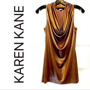 Gold Disco Sleeveless Top by Karen Kane